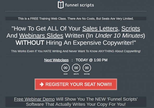 funnel scripts webinar