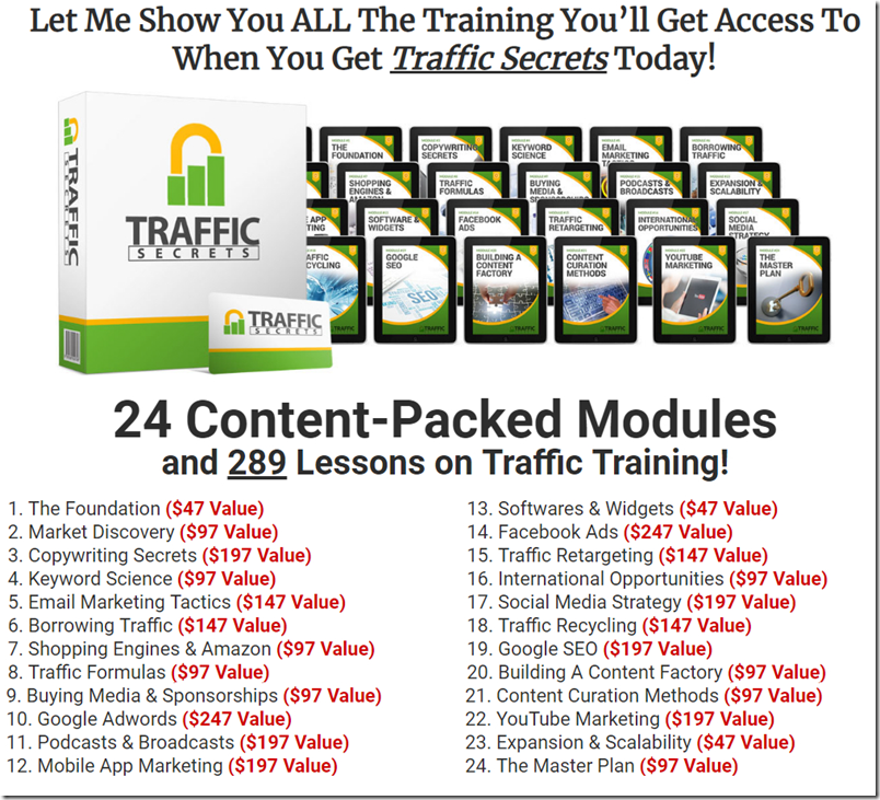 TRAFFIC SECRETS COURSE