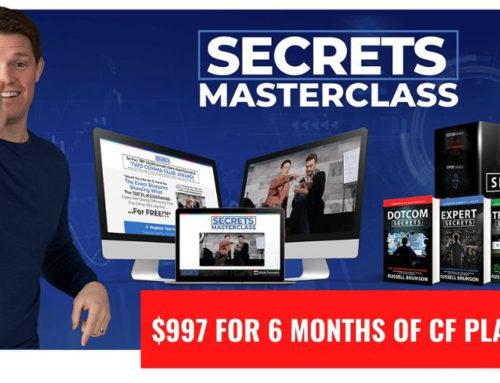 Clickfunnels Secrets Masterclass (2021) ᐈ $997 for 6 Months of CF Platinum